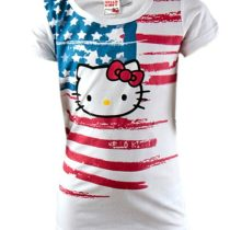 Tricou alb Hello Kitty 6 – 15 ani